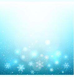 fall magic snow sky vector image vector image