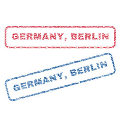 Germany berlin textile stamps vector