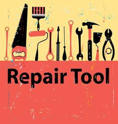 graphic icon set repair tools on white background vector image