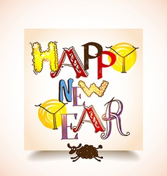 happy new years graffiti vector image vector image