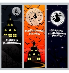 Invitation to a halloween party vertical banner vector