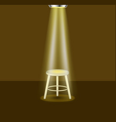 light shines on empty stool on stage vector image vector image