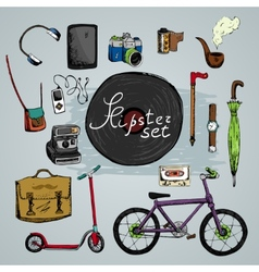 must have hipster elements vector image