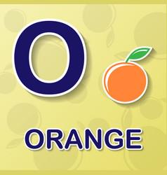 orange alphabet background vector image vector image