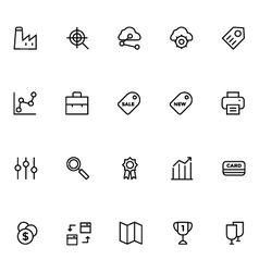Productivity and development icons 5 vector