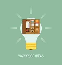 Room ideas for a wardrobe vector