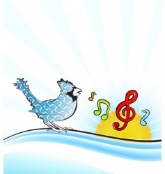 singing bird vector image vector image