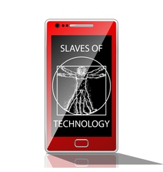 Slaves of technology vector image vector image