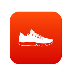sneakers icon digital red vector image