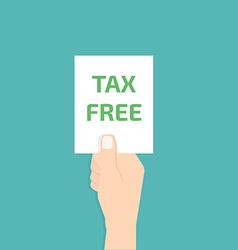 Tax free in hand vector
