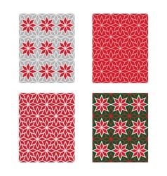 Trendy Scandinavian Seamless Pattern Set vector image vector image