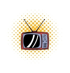 TV antenna comics icon vector image