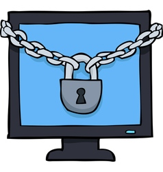 under the lock screen vector image vector image