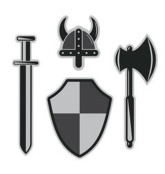 Viking armor set vector