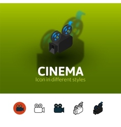 Cinema icon in different style vector