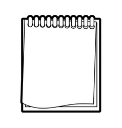 Wired notepad icon image vector