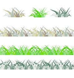 Seamless green grass field grass pattern isolated vector