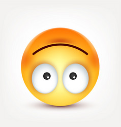 Smiley happy emoticon yellow face with emotions vector