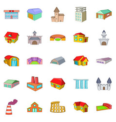 Installation icons set cartoon style vector