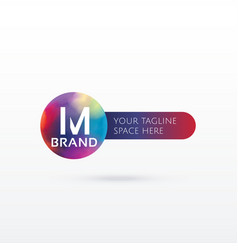 letter m abstract logo concept design vector image