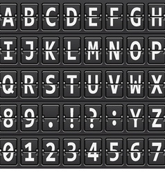 Alphabet of black mechanical panel vector