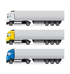 Truck set isolated vector