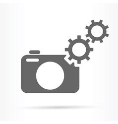 camera gears symbol icon vector image