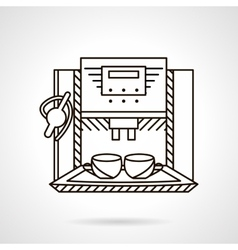 Espresso machine line style icon vector