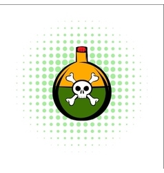 Poison comics icon vector