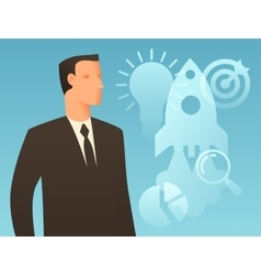 Business conceptual with businessman vector