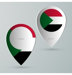 Paper of map marker for maps sudan vector