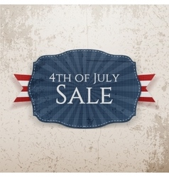 Fourth of july sale holiday emblem vector