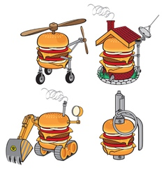 Super cheeseburger vector