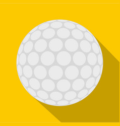 Ball for playing golf icon flat style vector