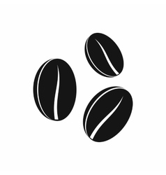 Coffee beans icon simple style vector image vector image
