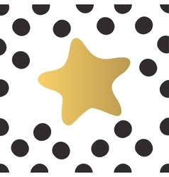 Colorful gold star and black circles of light vector image vector image