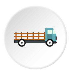 delivery truck icon circle vector image