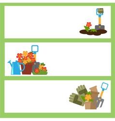 garden banners vector image vector image