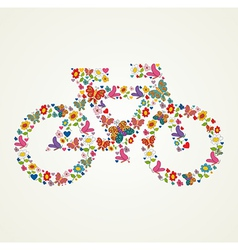 Go green spring icon bike vector image vector image