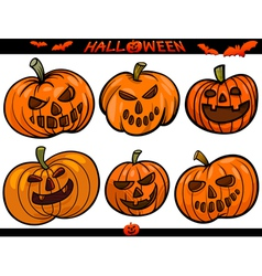 Halloween Cartoon Themes Set vector image vector image