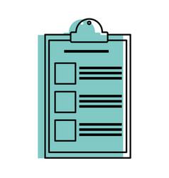 Isolated checklist design vector