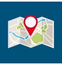 Location pin and map icon vector