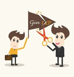 never give up business man vector image vector image