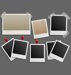 Photos frames like vintage photo set vector image vector image