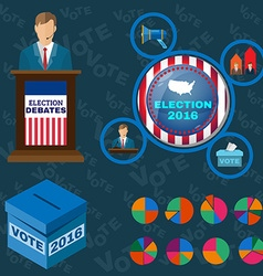 Presidential Debates Icons vector image