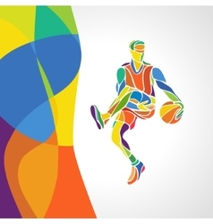 Rio 2016 brazil games abstract colorful pattern vector