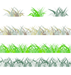 seamless green grass field grass pattern isolated vector image vector image