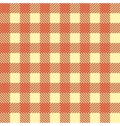 Seamless vintage square pattern red geometric vector