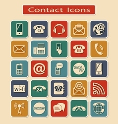 Set of Contact Icons vector image