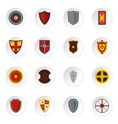 shield frames set flat icons vector image vector image